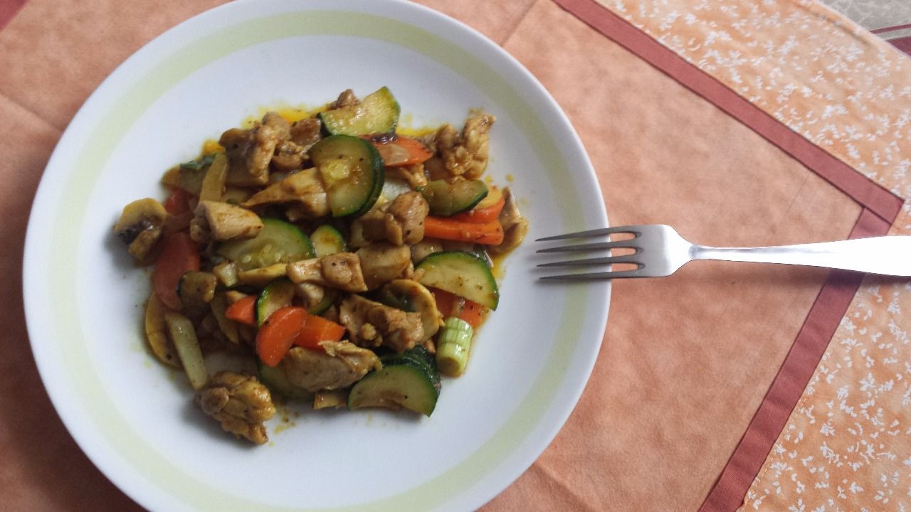 Kuřecí a zelenina